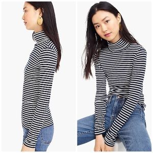 J. Crew Tops - J. Crew Perfect-fit Turtleneck in Stripe NWT